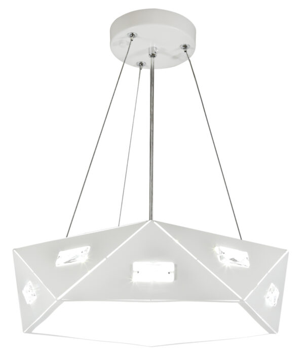 NEMEZIS LAMPA WISZĄCA PIĘCIOKATNY 42 24W LED 4000K BIAŁY - 31-64875
