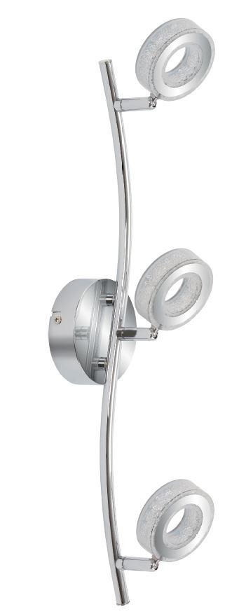 VINOLA LAMPA SUFITOWA LISTWA 3X5W LED CHROM 3000K - 93-65957