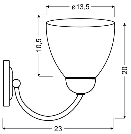 ULI LAMPA KINKIET 1X60W E27 SATYNA - 21-66145