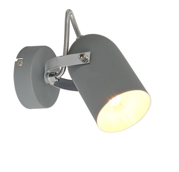GRAY LAMPA KINKIET 1X40W E14 SZARY - 91-66473