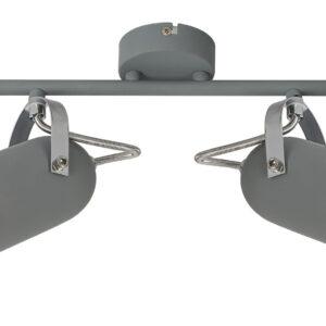 GRAY LAMPA SUFITOWA LISTWA 2X40W E14 SZARY - 92-66480