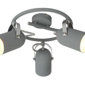 GRAY LAMPA SUFITOWA SPIRALA 3X40W E14 SZARY - 98-66497