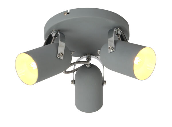 GRAY LAMPA SUFITOWA PLAFON 3X40W E14 SZARY - 98-66503