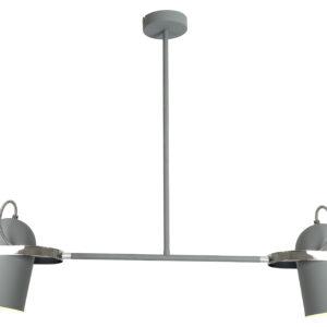 GRAY LAMPA WISZĄCA 2X40W E27 SZARY - 32-66510