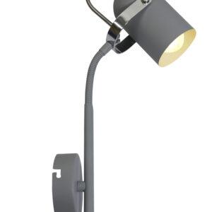 GRAY LAMPA KINKIET NA WYSIĘGNIKU 1X40W E14 SZARY - 91-66527