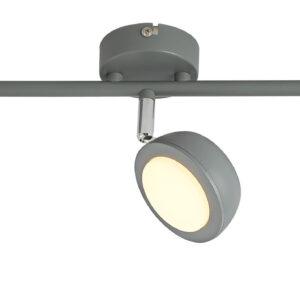 MILD LAMPA SUFITOWA LISTWA 3X6W LED SZARY 3000K - 93-66541