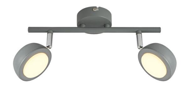 MILD LAMPA SUFITOWA LISTWA 2X6W LED SZARY 3000K - 92-66749