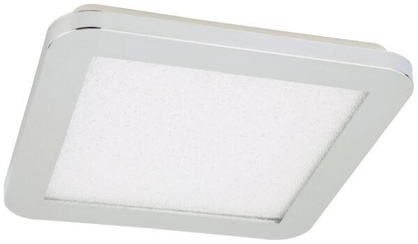 NEXIT LAMPA SUFITOWA PLAFON 22,5X22,5 12W LED IP44 CHROM+GRANILA 3000K - 10-66787