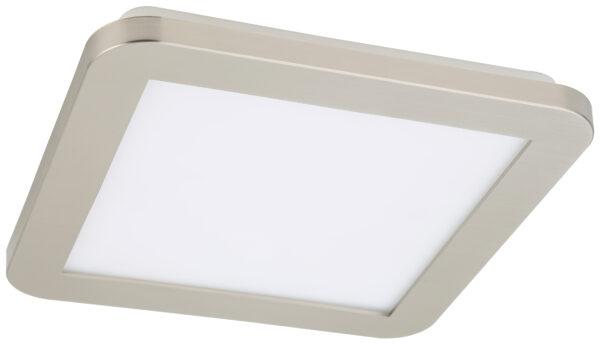 NEXIT LAMPA SUFITOWA PLAFON 22,5X22,5 12W LED IP44 SATYNA+BIAŁY 3000K - 10-66824