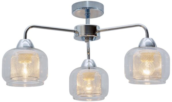 RAY LAMPA SUFITOWA 3X40W E14 CHROM - 33-67081