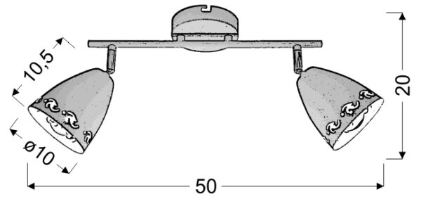 COTY LAMPA SUFITOWA LISTWA 2X40W E14 BIAŁY MAT - 92-67128