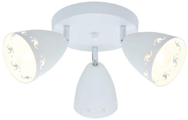 COTY LAMPA SUFITOWA PLAFON 3X40W E14 BIAŁY MAT - 98-67135