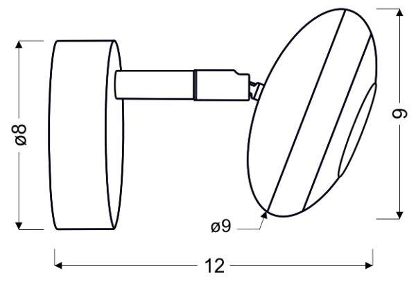 SKIPPER LAMPA KINKIET 1X6W LED COB GŁÓWKA OKRĄGŁA 1E Z PRZEGUBEM KD SYSTEM CHROM - 91-67494