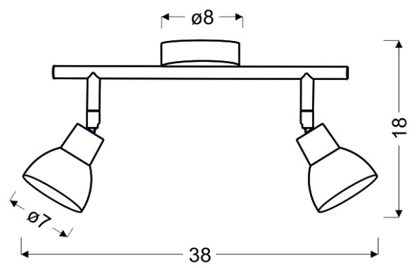 ROY LAMPA SUFITOWA LISTWA 2X5W LED COB GŁÓWKA OKRĄGŁA 1E Z PRZEGUBEM KD SYSTEM BIAŁY - 92-67555