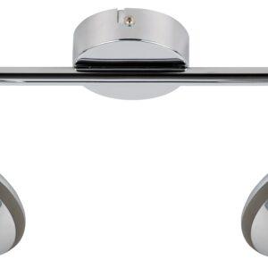 SKIPPER LAMPA SUFITOWA LISTWA 2X6W LED COB GŁÓWKA OKRĄGŁA 1E Z PRZEGUBEM KD SYSTEM CHROM - 92-67562