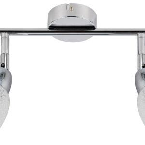 RICO LAMPA SUFITOWA LISTWA 2X6W LED SMD GŁÓWKA OKRĄGŁA 1E Z PRZEGUBEM KD SYSTEM KLOSZ WYMIENNY CHROM/BEZBARWNY - 92-67579