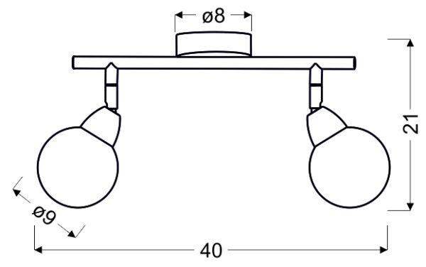BOLO LAMPA SUFITOWA LISTWA 2X6W LED SMD GŁÓWKA OKRĄGŁA 1E Z PRZEGUBEM KLOSZ WYMIENNY KD SYSTEM CHROM/BEZBARWNY - 92-67586