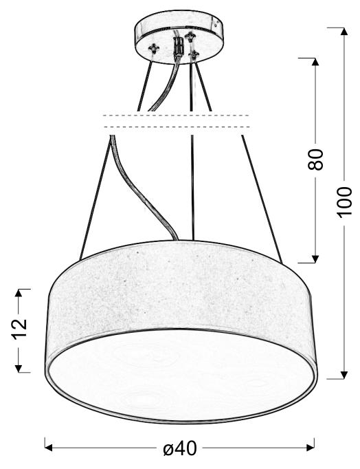 KIOTO LAMPA WISZĄCA 40 3X40W E27 KREMOWY - 31-67739