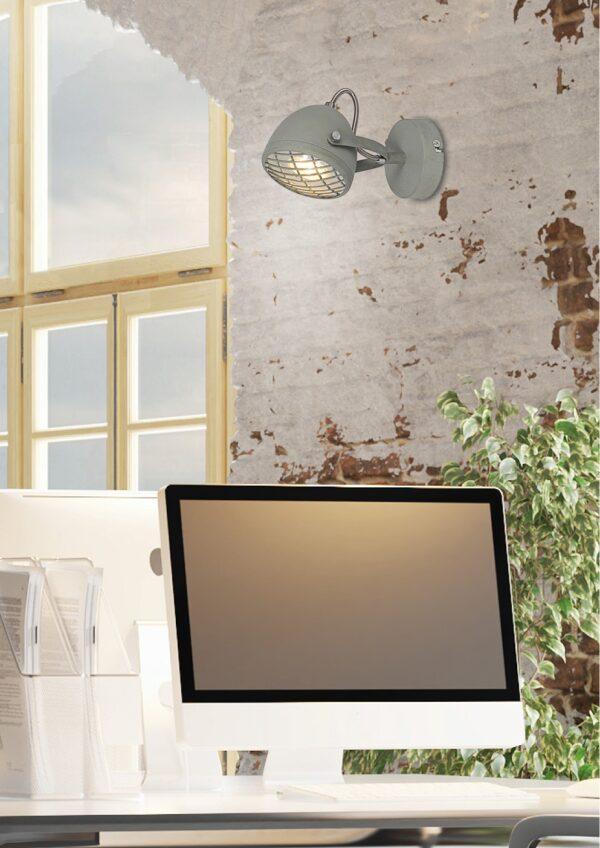 PENT LAMPA KINKIET 1X50W GU10  BETONOWY SZARY - 91-67999