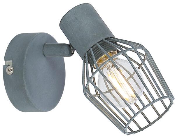 VIKING LAMPA KINKIET 1X40W E14 SZARY - 91-68002