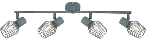 VIKING LAMPA SUFITOWA LISTWA 4X40W E14 SZARY - 94-68033