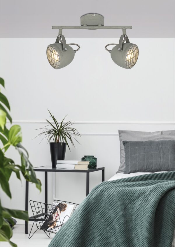 PENT LAMPA SUFITOWA LISTWA 2X50W GU10  BETONOWY SZARY - 92-68057
