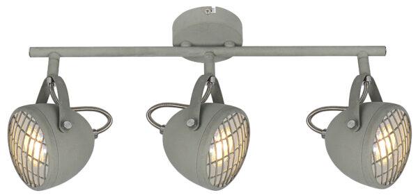 PENT LAMPA SUFITOWA LISTWA 3X50W GU10  BETONOWY SZARY - 93-68064
