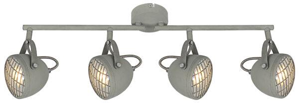 PENT LAMPA SUFITOWA LISTWA 4X50W GU10  BETONOWY SZARY - 94-68071