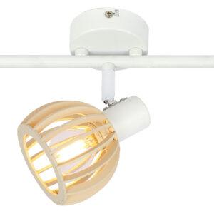 ATARRI LAMPA SUFITOWA LISTWA 3X25W E14 BIAŁY+DREWNO - 93-68095