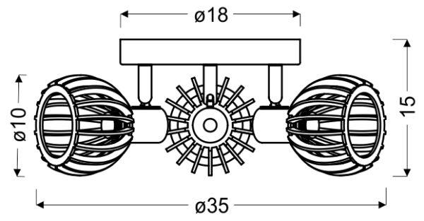 ATARRI LAMPA SUFITOWA PLAFON 3X25W E14 BIAŁY+DREWNO - 98-68118