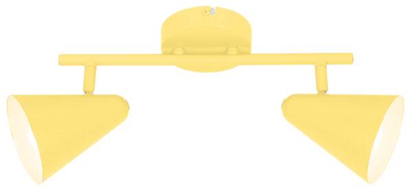 AMOR LAMPA SUFITOWA LISTWA 2X40W E14 BANANOWY - 92-68804
