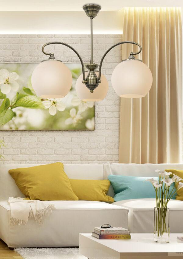 ORBIT LAMPA WISZĄCA 3X60W E27 PATYNOWA MIEDŹ - 33-69351