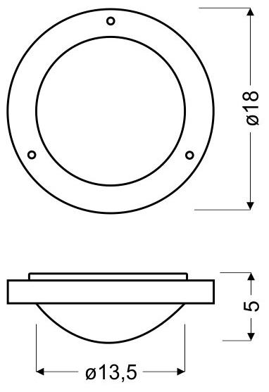 AQUILA LAMPA SUFITOWA PLAFON 18 1X40W G9 PATYNA IP44 (BŻ) - 12-69962