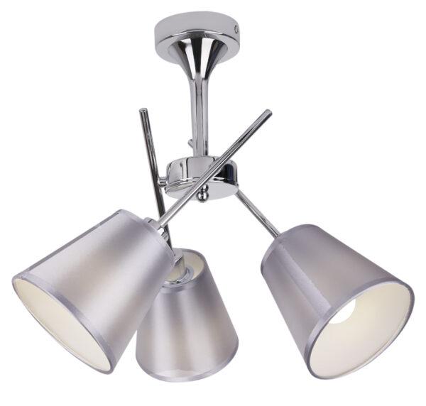 VOX LAMPA WISZĄCA 3X40W E14 CHROM Z ABAŻUREM - 33-70623