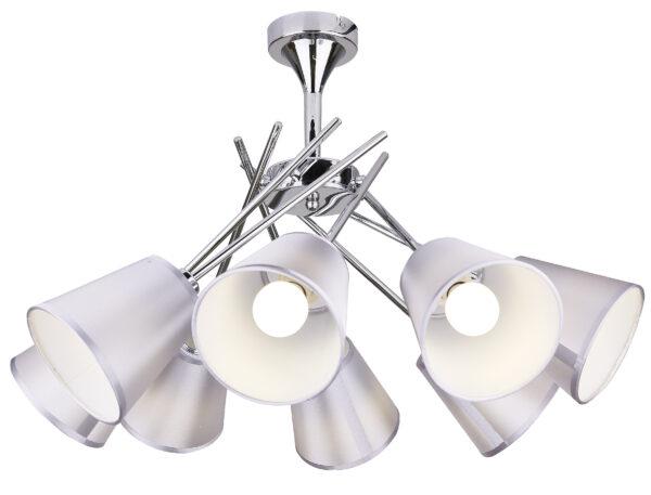 VOX LAMPA WISZĄCA 8X40W E14 CHROM Z ABAŻUREM - 38-70647