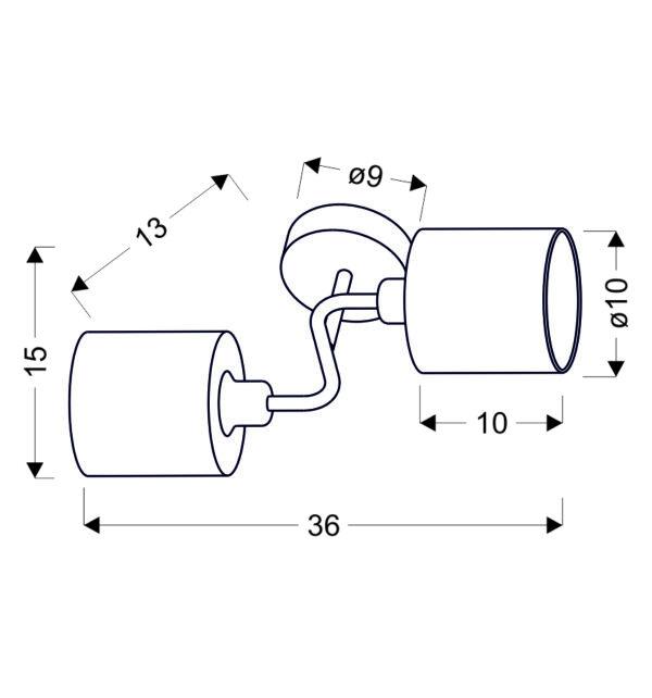 SAX LAMPA KINKIET 2X40W E14 SATYNA - 22-70678