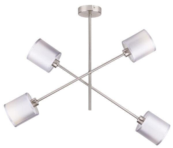 SAX LAMPA WISZĄCA SZTYCA 4X40W E14 SATYNA - 34-70692