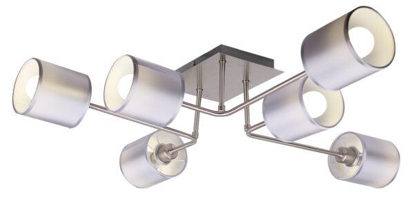 SAX LAMPA SUFITOWA 6X40W E14 SATYNA - 36-70708