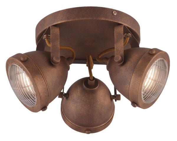 FRODO LAMPA SUFITOWA PLAFON 3X40W GU10 RDZAWY - 98-71095
