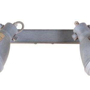 CRODO LAMPA SUFITOWA LISTWA 2X40W E14 SZARY - 92-71118