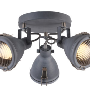 CRODO LAMPA SUFITOWA PLAFON 3X40W E14 SZARY - 98-71132