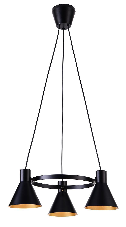 MORE LAMPA WISZĄCA 3X40W E27 CZARNY MATOWY - 33-71156