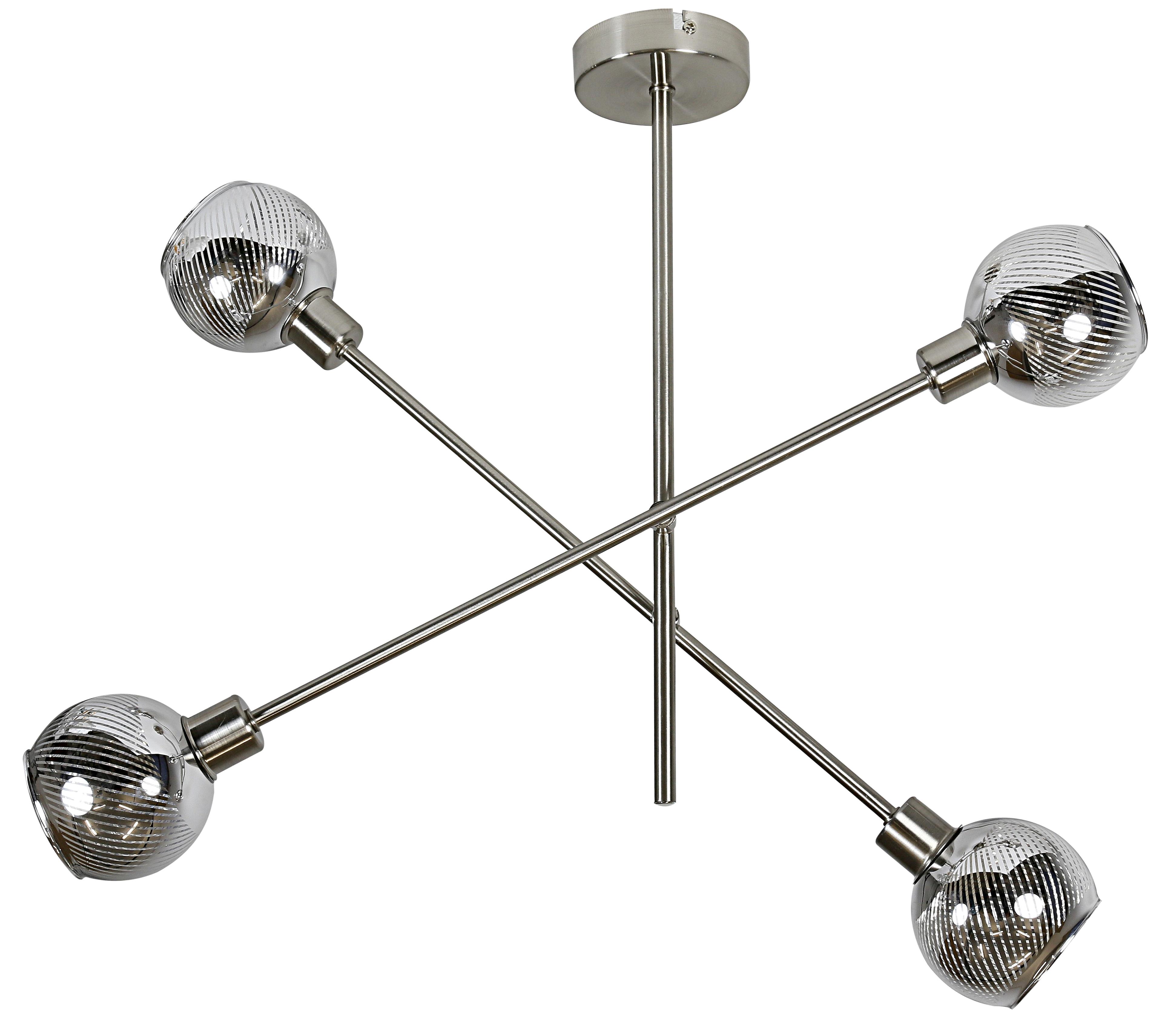 MIGO LAMPA WISZĄCA SZTYCA 4X10W E14 LED SATYNA - 34-72436