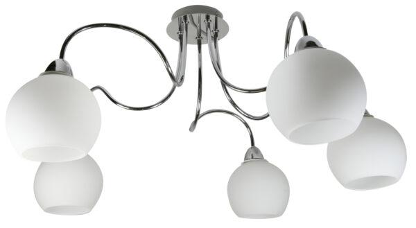 NELDA LAMPA WISZĄCA 5X60W E14 CHROM - 35-72597
