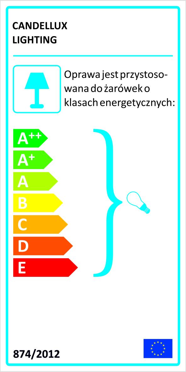 VERVE LAMPA KINKIET 1X40W E14 CZARNY ABAŻUR ZŁOTY - 91-62598