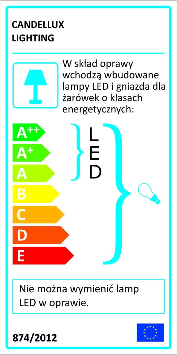 AMBROSIA 3 LAMPA KINKIET 2X40W E14 + 12,3W LED MIEDZIANY - 22-33529