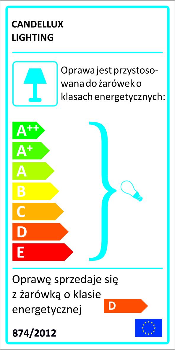 GLOSSY LAMPA SUFITOWA SPIRALA 4X40W G9 MOSIĄDZ - 98-00484