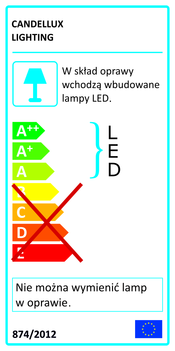UNIVERSE LAMPA SUFITOWA LISTWA LED 62 CM 12W IP44 4000 K - 21-54036