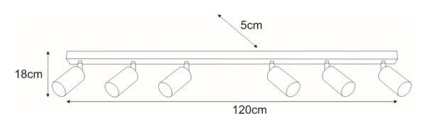 Lampy na listwie K-4559 z serii LORIS