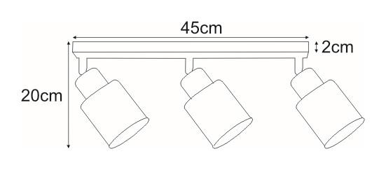 Lampy na listwie K-4782 z serii TROY GOLD